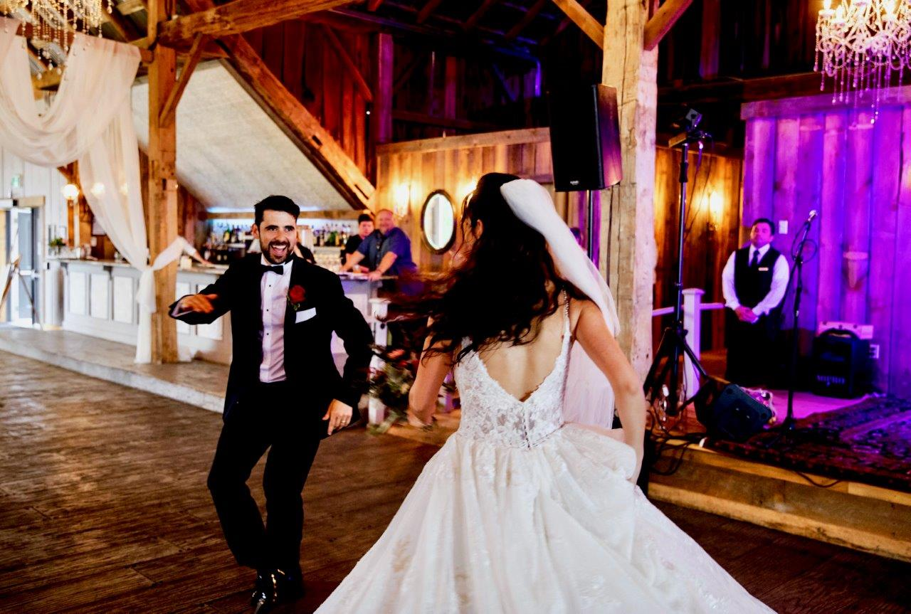 evermore weddings bride groom dance