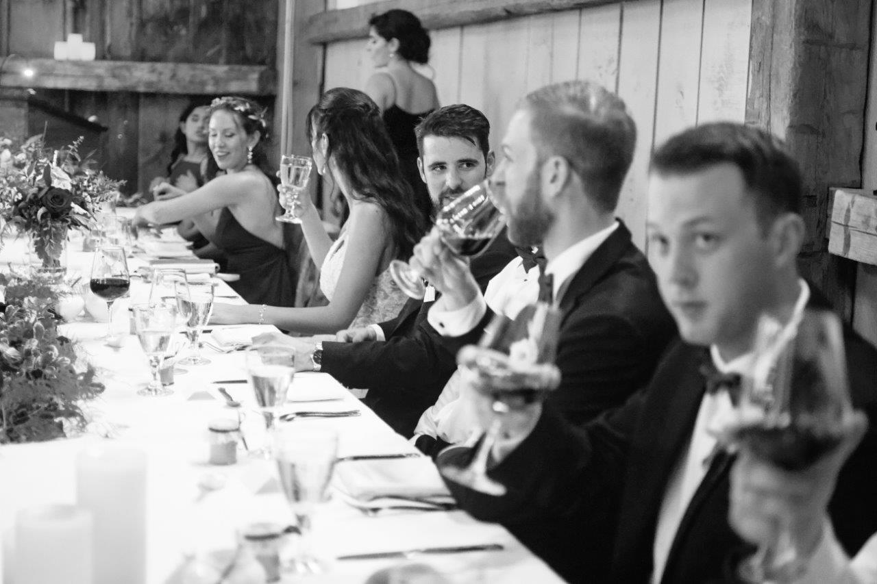 evermore weddings head table candid