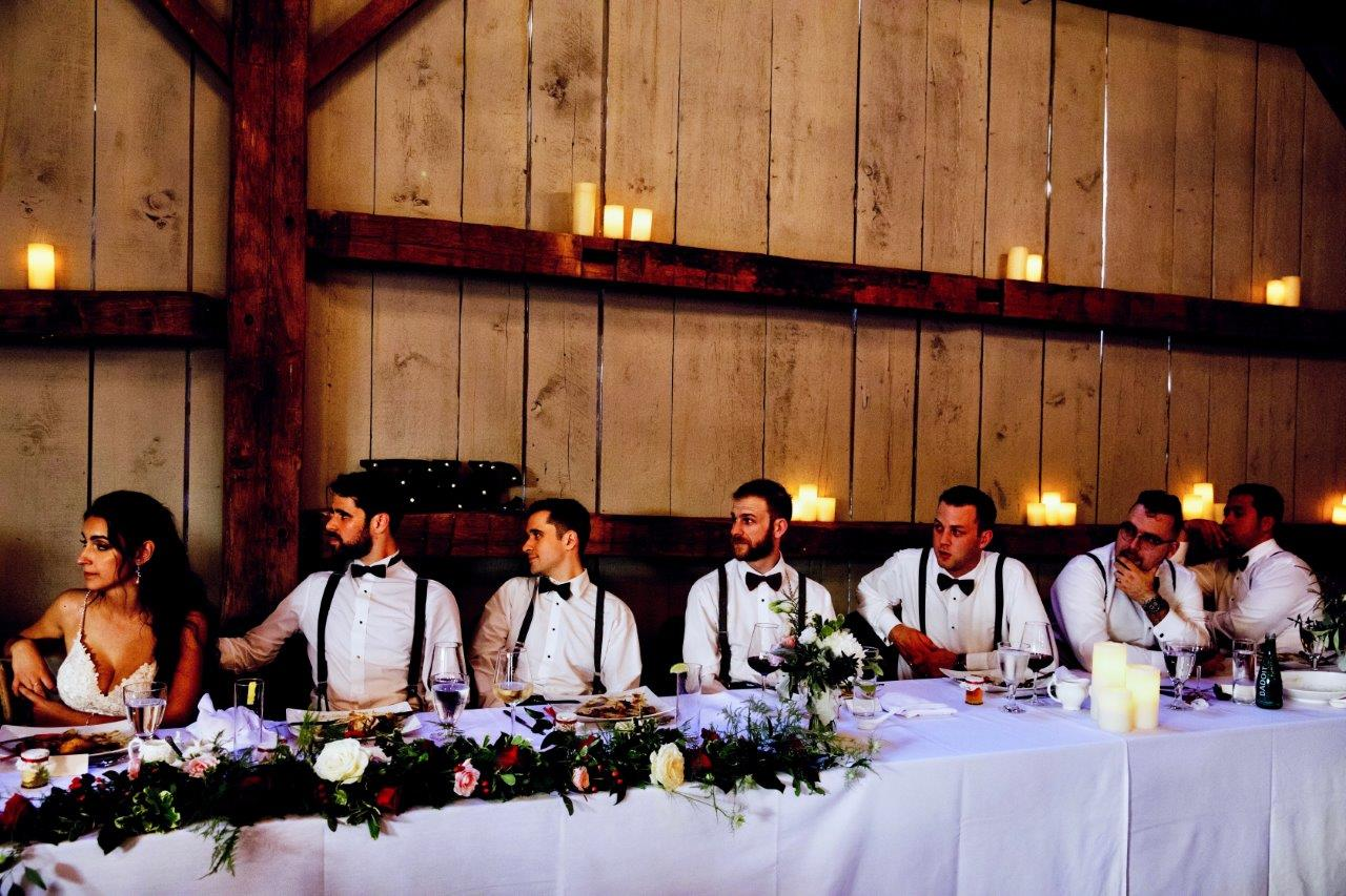 evermore weddings head table olga eric