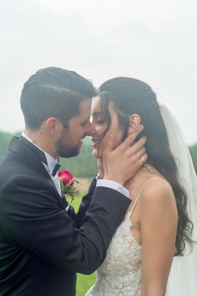 evermore weddings passionate kiss