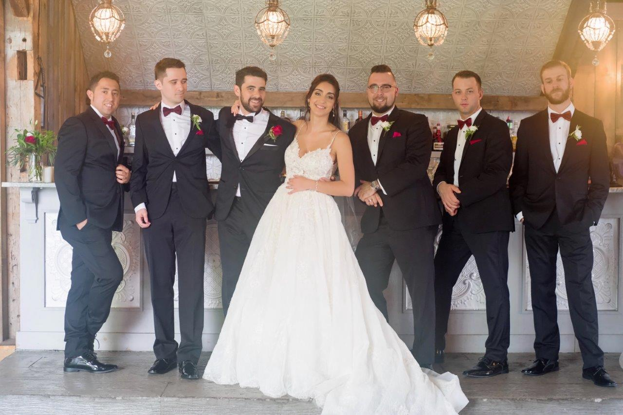 evermore weddings wedding party groomsmen and bride