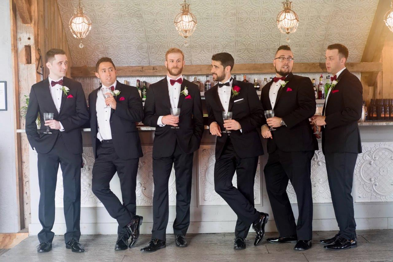 evermore weddings wedding party groomsmen