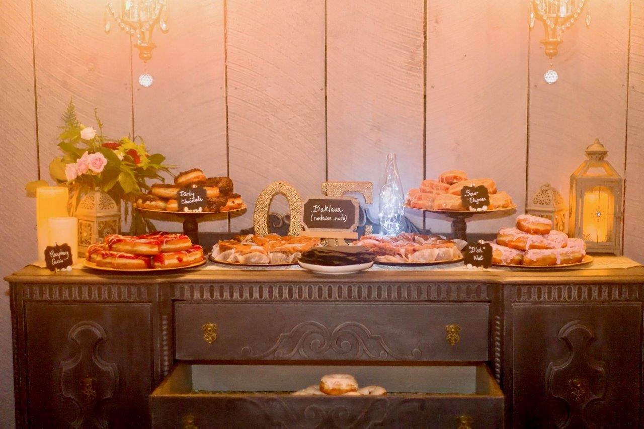 kathi robertson evermore weddings dessert table