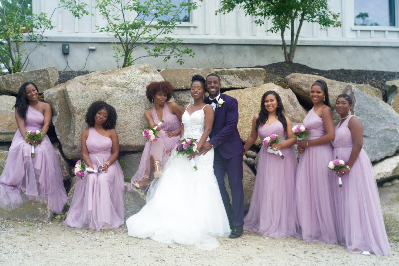 kathi robertson wedding le belvedere bride groom with bridal party