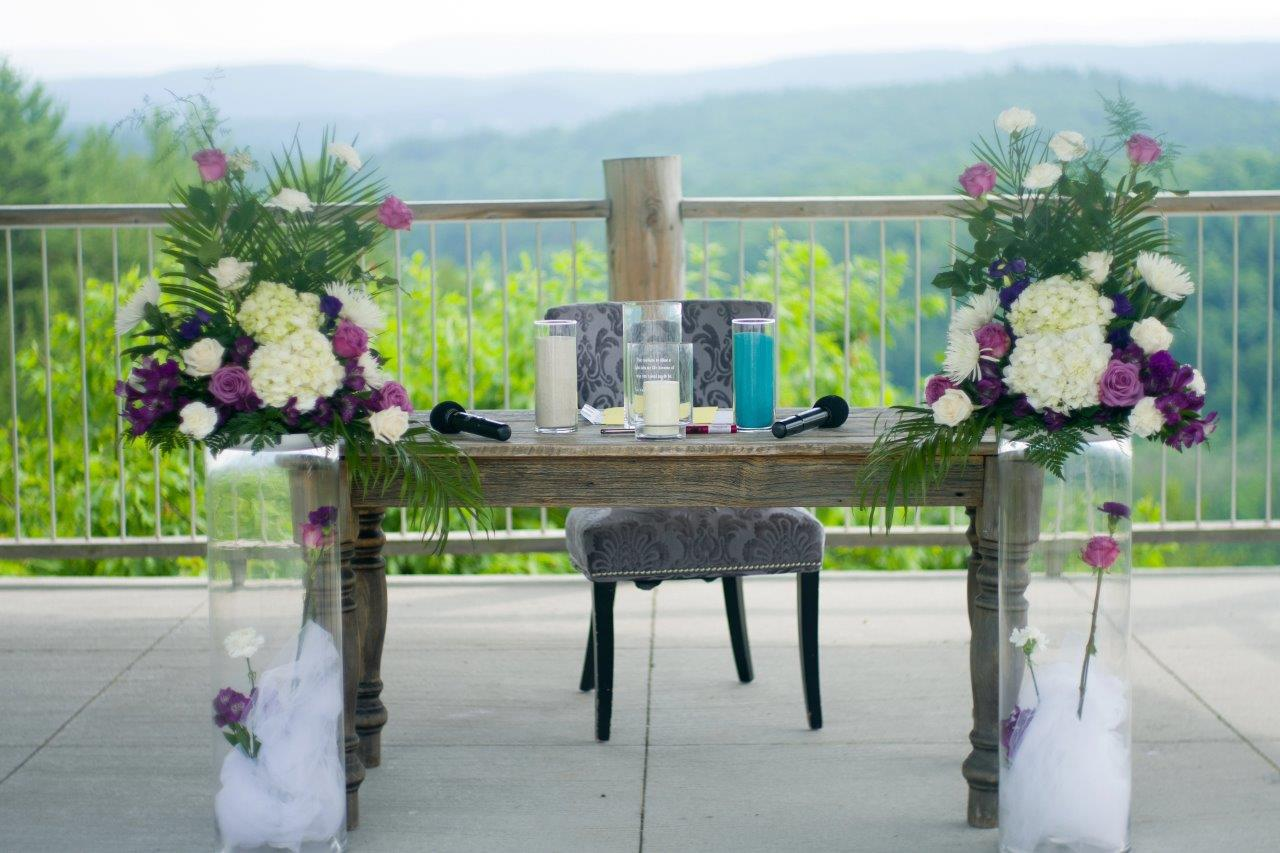 kathi robertson wedding le belvedere registry table